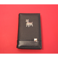 West Highland Terrier on Faux Carbon Fibre Black Note book & Pen