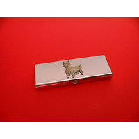 West Highland Terrier Pewter Motif on Seven Day Pill Box Gift