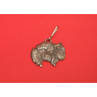 Pomeranian Dog Zipper Pull Pewter Pet Gift