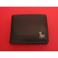 West Highland Terrier Design Real Leather Dark Brown Wallet Gift