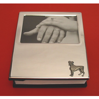 Boxer Dog Motif on Plated Photograph Album 100 6 x 4 Photos