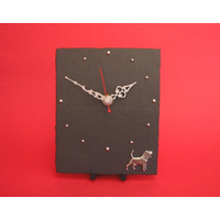 Beagle Pewter Design Handmade Slate Clock Dog Gift