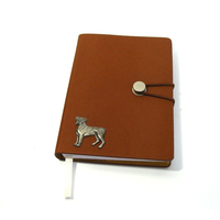 Boxer Dog A6 Tan Journal Notebook Dog Gift