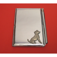 Jack Russell Chrome Notebook & Pen Card Holder