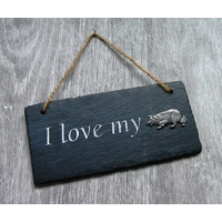 Border Collie Design Slate Plaque Valentine Christmas Gift