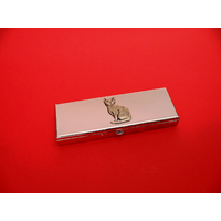 Short Hair Cat Pewter Motif on Seven Day Pill Box Gift