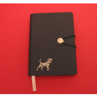 Beagle A6 Black Journal Notebook Dog Gift