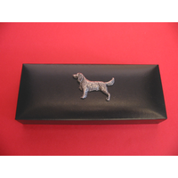 Springer Spaniel Motif on Bridge Pen Set in Black Gift Box
