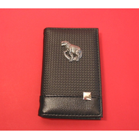 Dinosaur on Faux Carbon Fibre Black Note book & Pen