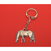 Grazing Pony Keyring Pewter Pet Mum Dad Gift