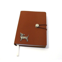 Chihuahua Dog A6 Tan Journal Notebook Dog Gift