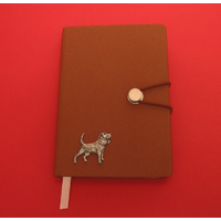Beagle A6 Tan Journal Notebook Dog Gift