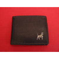 Beagle Design Real Leather Dark Brown Wallet Gents Gift