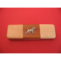 Beagle Dog on  Wooden Pen Box with 2 Pens