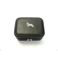 King Charles Spaniel Design Small Black Travel Jewellery Box