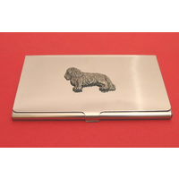 King Charles Spaniel Chrome Plated Business / Credit Card Holder