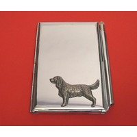 Springer Spaniel Chrome Notebook & Pen