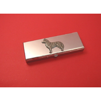Husky Pewter Motif on Seven Day Pill Box Gift