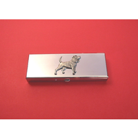 Beagle Pewter Motif on Seven Day Pill Box Gift