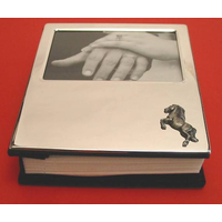 Rearing Horse Plated Photograph Album 100 6 x 4 Photos