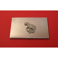 Dinosaur T-Rex Chrome Plated Business or Credit Card Holder