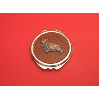 Cocker Spaniel on Brown Round Compact Mirror Useful Gift