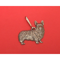 Corgi Dog Zipper Pull Pewter Pet Gift