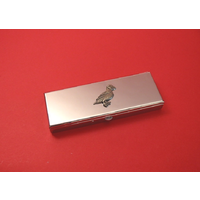 Puffin Pewter Motif on Seven Day Pill Box Gift
