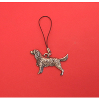 Springer Spaniel Mobile Phone Charm Pewter Pet Gift