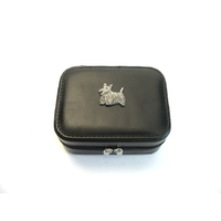 Scottish Terrier Design Small Black Travel Jewellery Box Gift
