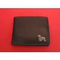 Cocker Spaniel Design Real Leather Dark Brown Wallet Gents Gift