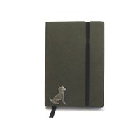 Jack Russell A6 Olive Green Journal Notebook Dog Gift