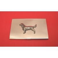 Springer Spaniel Chrome Plated Business / Credit Card Holder