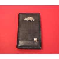 Border Collie on Faux Carbon Fibre Black Note book & Pen