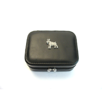 Miniature Schnauzer Design Small Black Travel Jewellery Box Gift