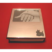 Scottish Terrier Motif on Plated Photograph Album 100 6 x 4 Phot