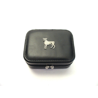 Boxer Dog Design Small Black Travel Jewellery Box