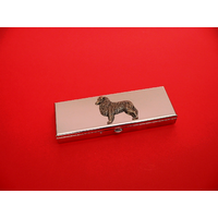Australian Shepherd Pewter Motif on Seven Day Pill Box Gift
