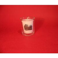 Shih Tzu Motif On Glass Votive Candle Holder Xmas Gift