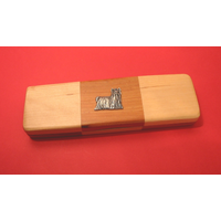 Yorkshire Terrier on Wooden Pen Box with 2 Pens