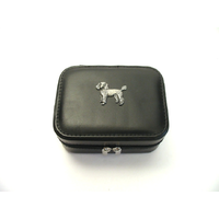 Poodle Design Small Black Travel Jewellery Box Gift