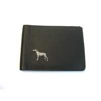 Greyhound Design Real Leather Black Passport Holder Gents Gift