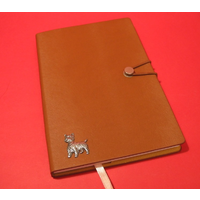West Highland Terrier A5 Tan Journal Notebook Dog Gift