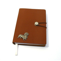 Dachshund Dog A6 Tan Journal Notebook Dog Gift