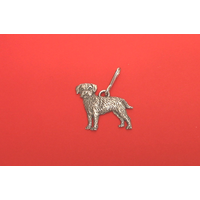Border Terrier Zipper Pull Pewter Pet Gift