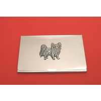 Papillon Chrome Plated Business or Credit Card Holder