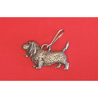 Basset Hound Dog Zipper Pull Pewter Pet Gift