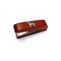 Border Terrier Motif on Rosewood Stapler Stationery Gift