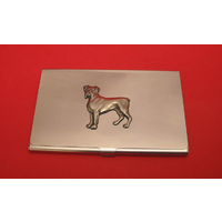 Boxer Dog Chrome Plated Business or Credit Card Holder