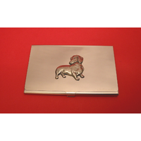 Dachshund Dog Chrome Plated Business or Credit Card Holder